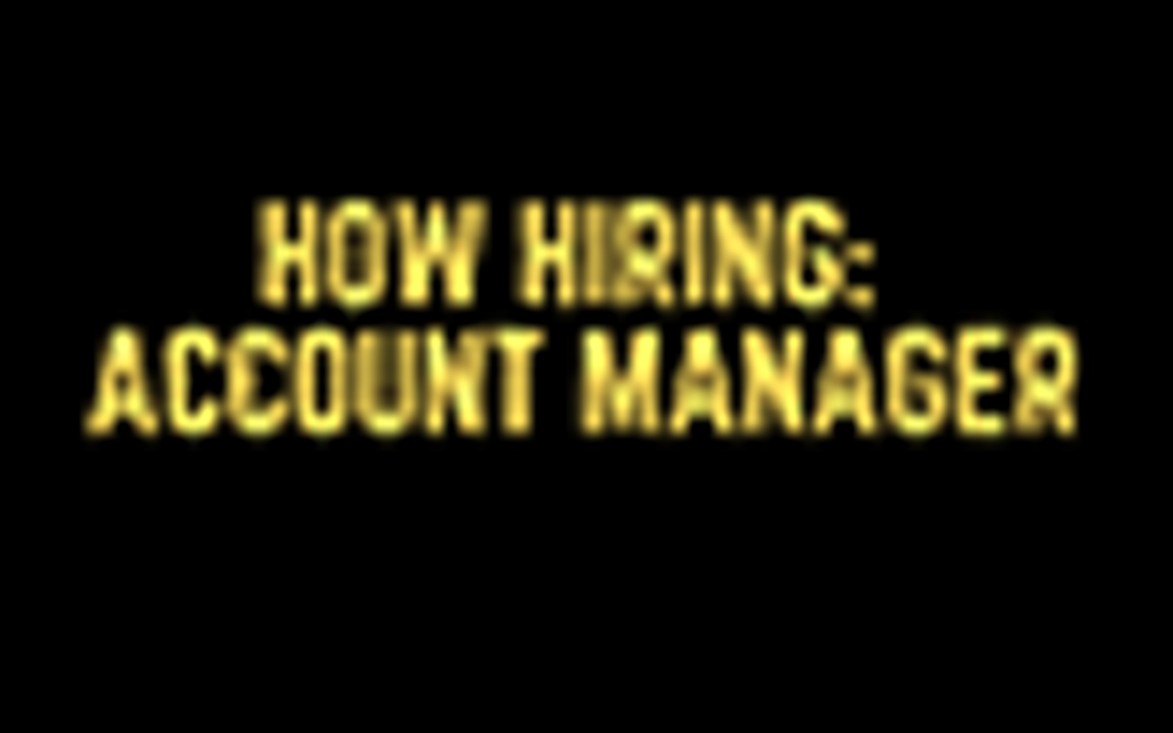 Now Hiring: Area Manager